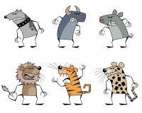 6 странных животных Стоковые Изображения