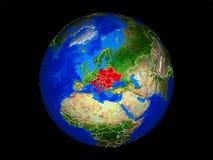 Страны CEI на земле от космоса стоковое изображение rf