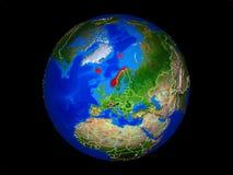 Страны EFTA на земле от космоса стоковая фотография rf