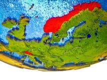 Страны EFTA на земле 3D стоковая фотография