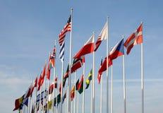страны flags некоторый развевать стоковые фото