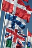 страны flags некоторый развевать Стоковая Фотография