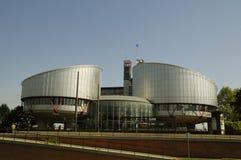 страсбург прав человека Франции здания стоковое изображение