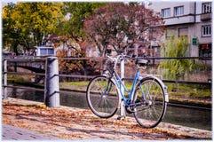 страсбург Франции Взгляд на каналах меньшего района Франции Стоковое Изображение RF