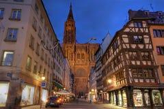 страсбург Франции собора стоковое фото rf