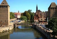 страсбург Франции ponts couverts Стоковые Фотографии RF