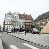 Страсбург Франция после терактов на рождественской ярмарке стоковая фотография rf