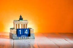 Страстная пятница Германии календаря 14-ое апреля Стоковая Фотография