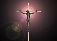 Страсть Иисуса Христоса на кресте Стоковое фото RF