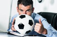 Страсть футбола Стоковые Изображения RF