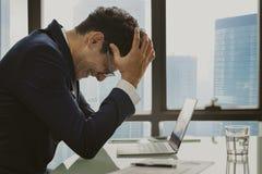 Стратегии бизнеса планирования стресса концепция серьезной работая Стоковая Фотография