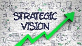 Стратегическое зрение нарисованное на белой стене 3d бесплатная иллюстрация