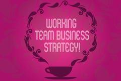 Стратегия бизнеса команды текста почерка работая Компания смысла концепции коллективно обсуждать идеи для чашки продукции и бесплатная иллюстрация