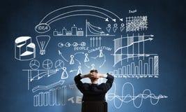 Стратегия бизнеса чертежа бизнесмена Стоковое Изображение RF