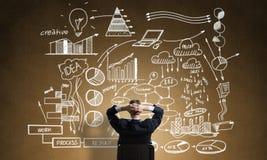 Стратегия бизнеса чертежа бизнесмена Стоковые Фотографии RF