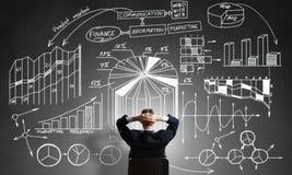 Стратегия бизнеса чертежа бизнесмена Стоковая Фотография RF