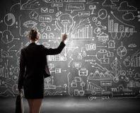 Стратегия бизнеса иллюстрация вектора