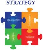 стратегия головоломки зигзага Стоковое Изображение
