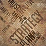 Стратегия - концепция Wordcloud Grunge Стоковое Изображение