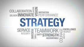 Стратегия - оживленное облако слова