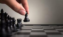 Стратегия плана ведущая успешной концепции бизнес лидера, Хана стоковое изображение