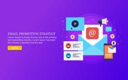 Стратегия продвижения электронной почты, цифровой маркетинг для подписчиков электронной почты, маркетинговая кампания информацион стоковые изображения