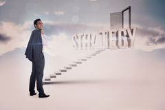 Стратегия против белых шагов водя к открыть двери Стоковые Фото