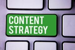 Стратегия содержания сочинительства текста почерка Слова текста 2 маркетингового плана вебсайта интернета сети управления смысла  Стоковое Изображение