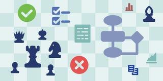 Стратегия шахмат горизонтальная Стоковое фото RF