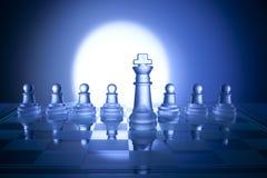стратегия шахмат дела предпосылки Стоковое Изображение