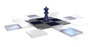 стратегия шахмат Стоковое фото RF