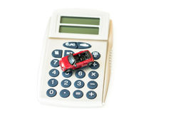 Страхование автомобилей - дорогой автомобиль Стоковые Фото