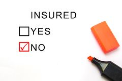 Страхование или риск Стоковая Фотография RF