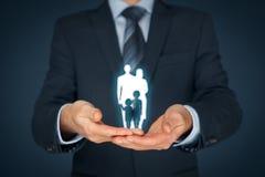 Страхование и политика семейной жизни Стоковое Фото