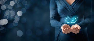 Страхование материнства и забота беременности Стоковые Фотографии RF