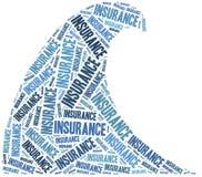 Страхование от наводнений Иллюстрация облака слова Стоковая Фотография RF