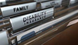 Страхование по инвалидности Стоковые Изображения