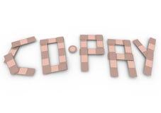 Страхование слова Со-оплаты перевязывает счет за медицинские услуги франшизы Стоковое фото RF