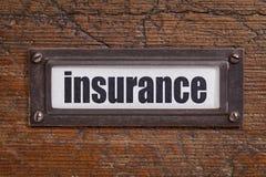 Страхование - ярлык картотеки Стоковое фото RF