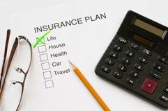 Страховой план Стоковые Фото