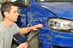 страхсбор повреждения случая автомобиля экспертный к Стоковое фото RF
