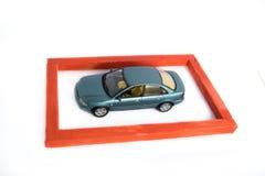 страхсбор принципиальной схемы автомобиля предпосылки изолированный над белизной Стоковые Фото