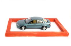 страхсбор принципиальной схемы автомобиля предпосылки изолированный над белизной Стоковое Фото