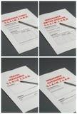 страхсбор форм заявки Стоковая Фотография RF