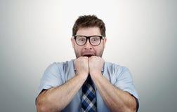 страх бизнесмена глубокий стоковые изображения rf
