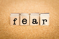 Страх - концепции штемпеля алфавита Стоковые Изображения