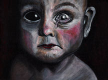 Страх младенца Стоковые Фото