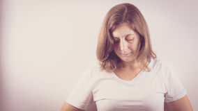 Страх, одиночество, депрессия, злоупотребление Стоковые Изображения RF