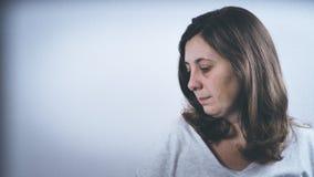 Страх, одиночество, депрессия, злоупотребление Стоковая Фотография RF