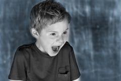 Страшить мальчик стоковые изображения rf